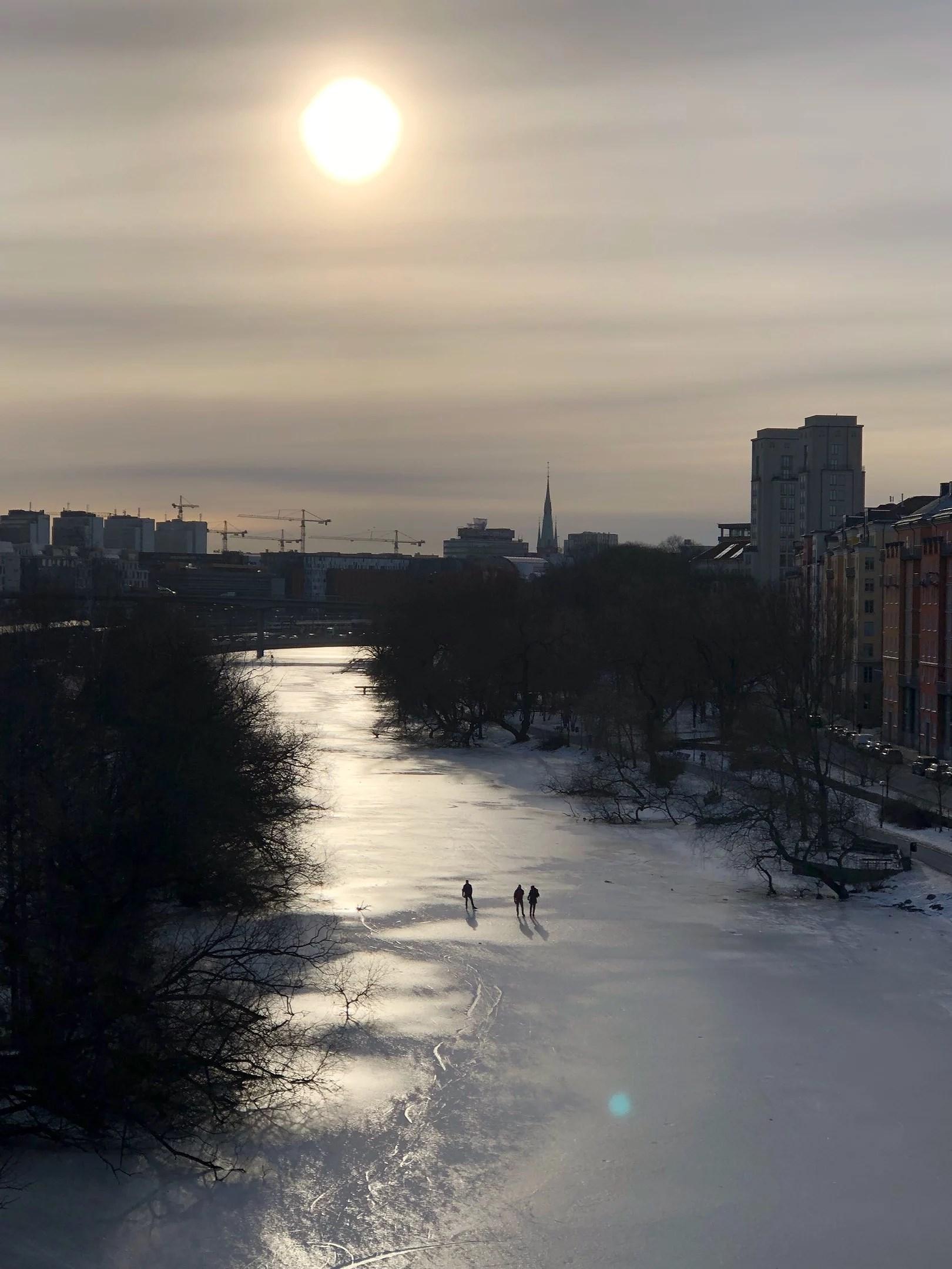 Vårvinter i Stockholm.