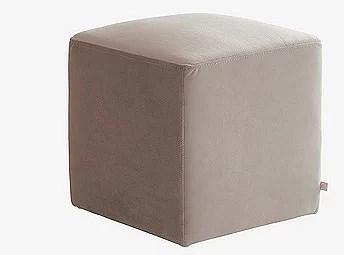 Fyrkantig sammet sittpuff