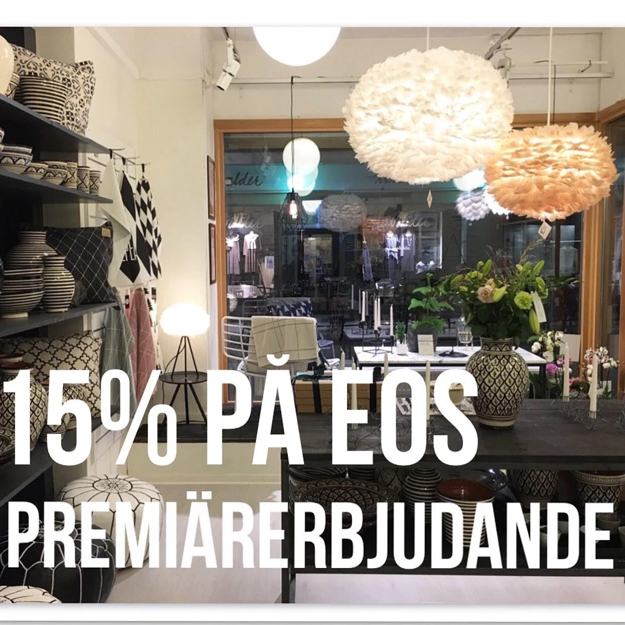 Premiärerbjudande , 15% på eos