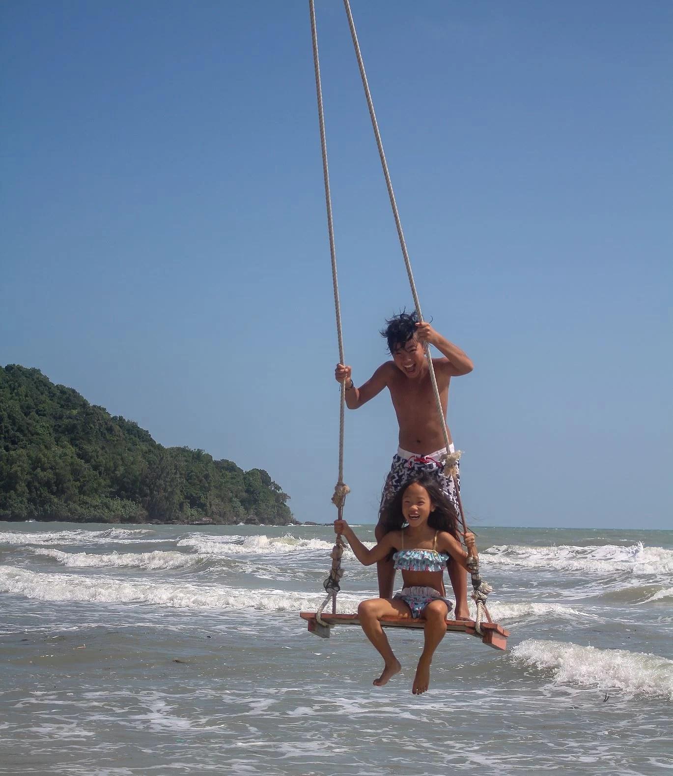 Härligt gung på Sao Beach