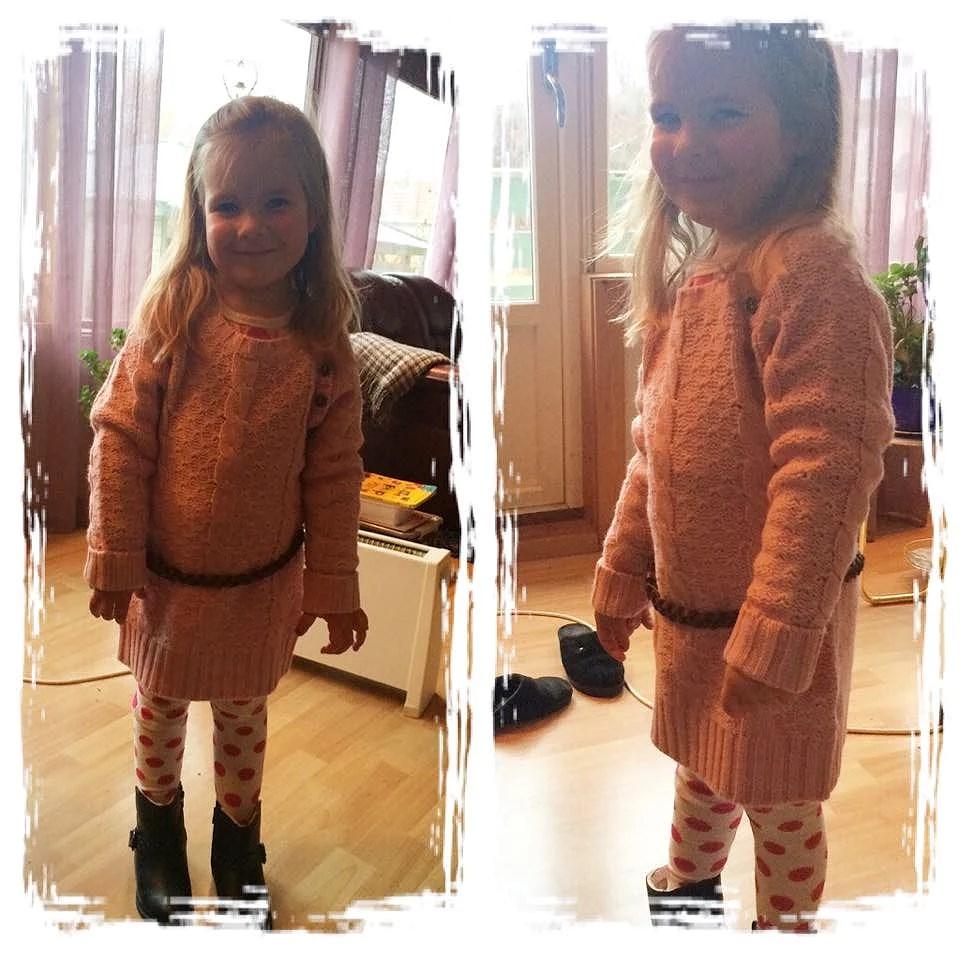 Mathilde med sitt nye anntrekk - stylish ;)