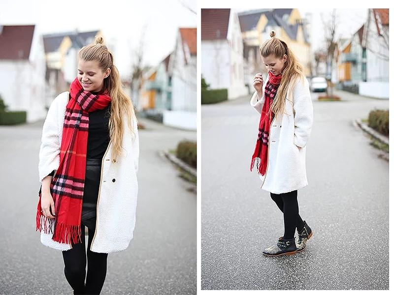 krist.in antrekk outfit style jakke shein skjerf nelly veske chanel boy zara vinter stavanger