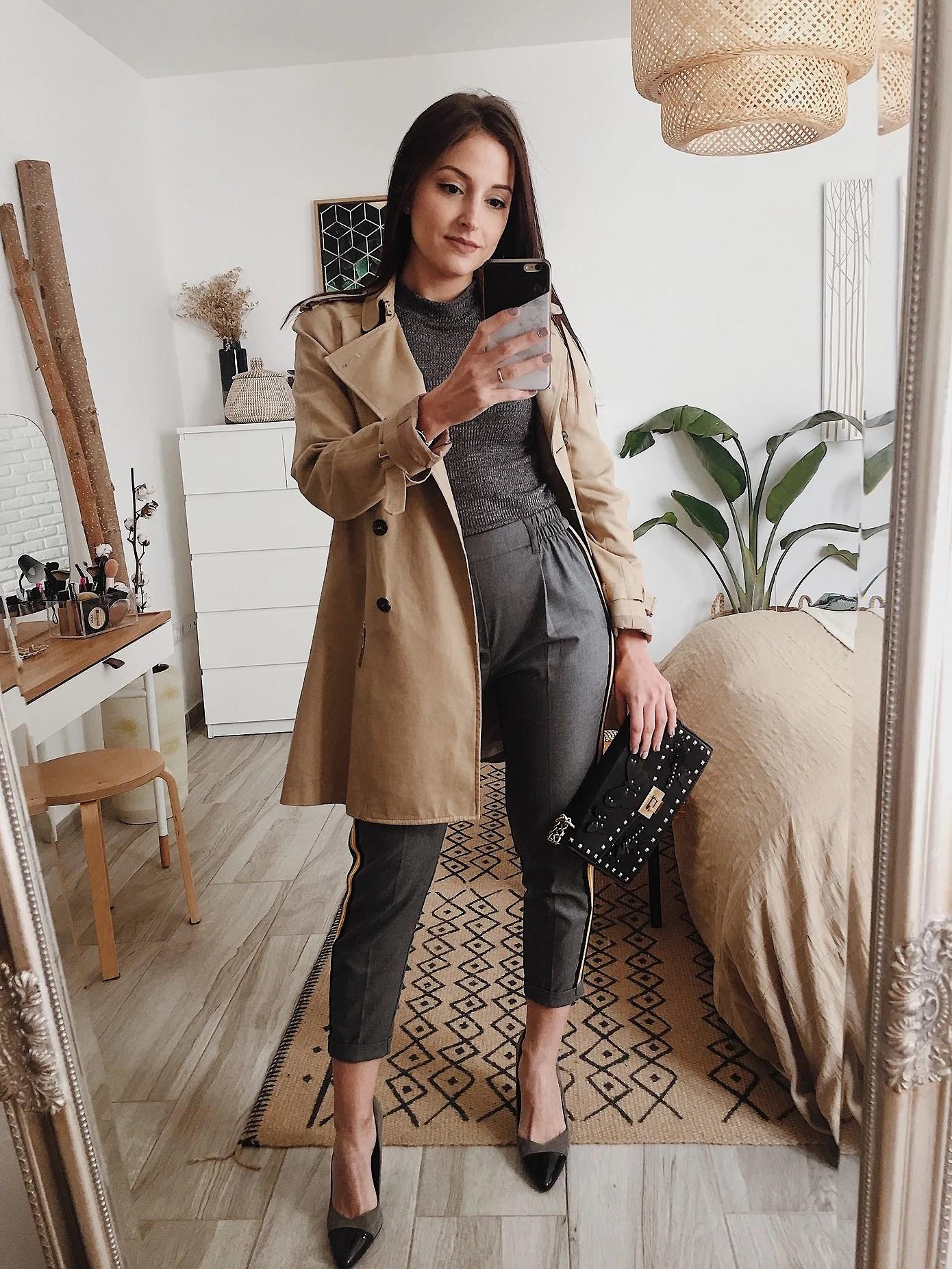 5 DÍAS 5 LOOKS: Top y pantalón en gris