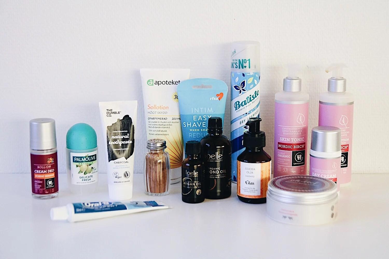 Minimalist-utmaningen dag 9: rensa bort gamla hudvårdsprodukter.