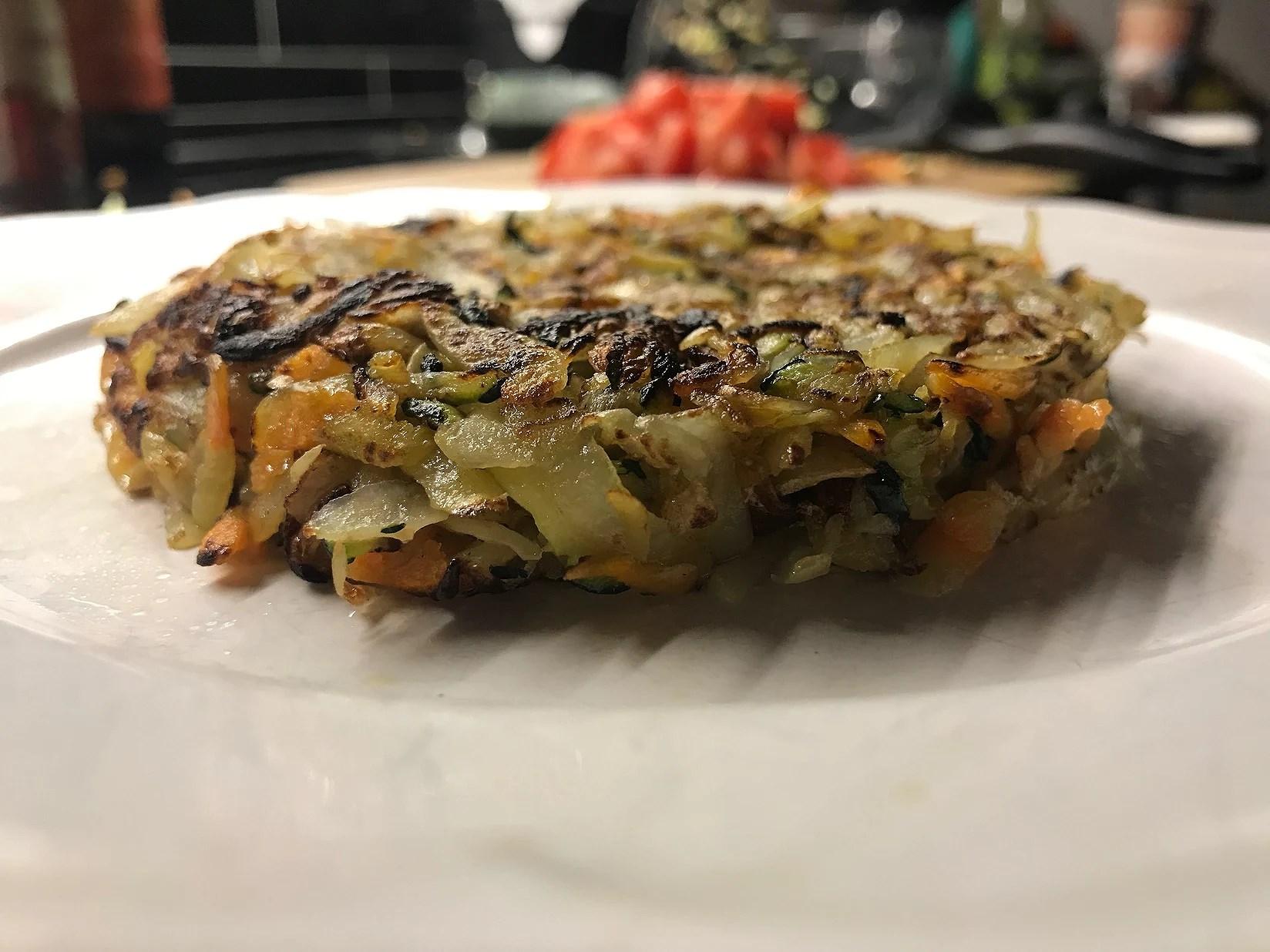 Råraka pannkaka - vegan