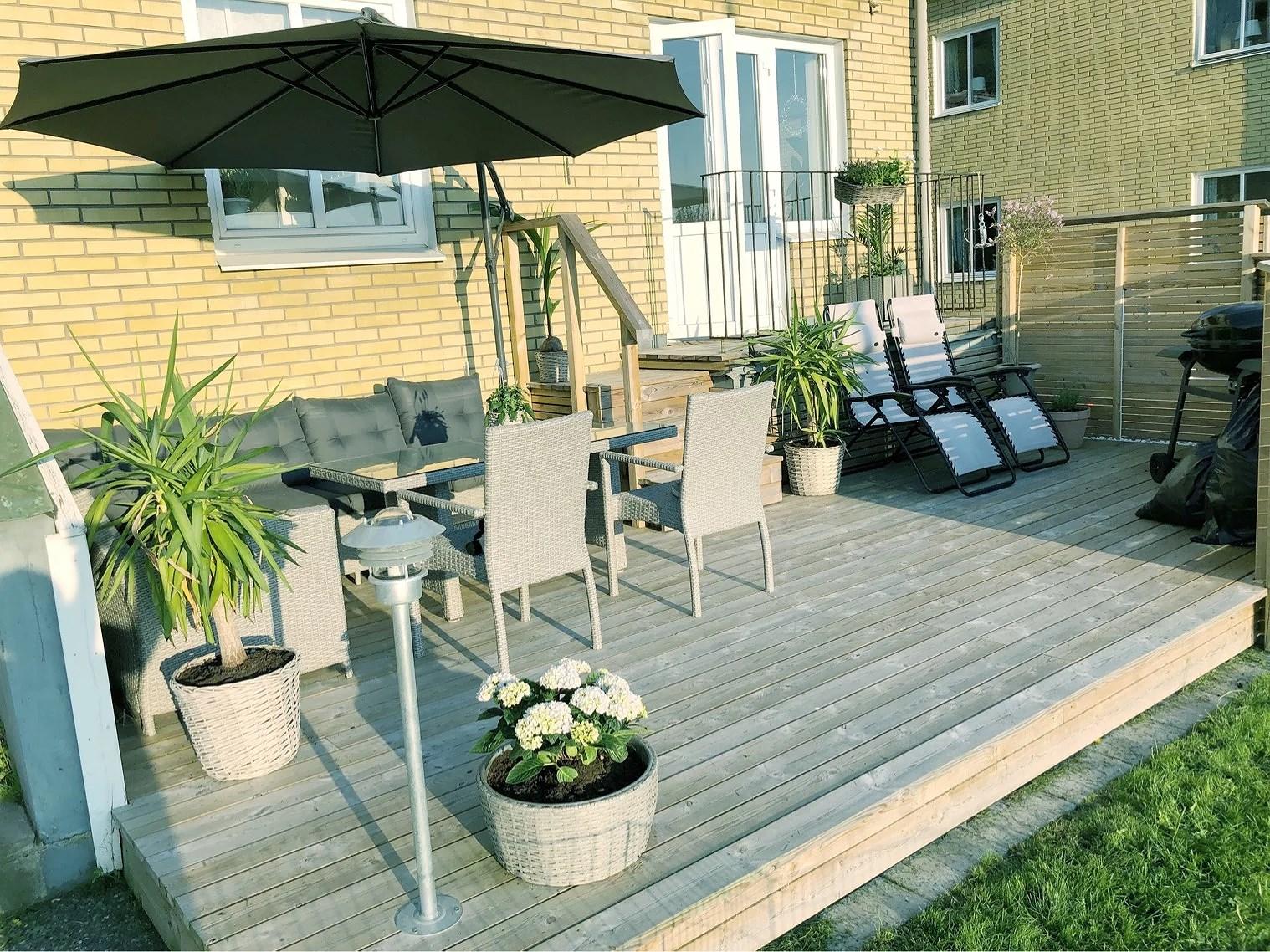 Sommarfint på altanen