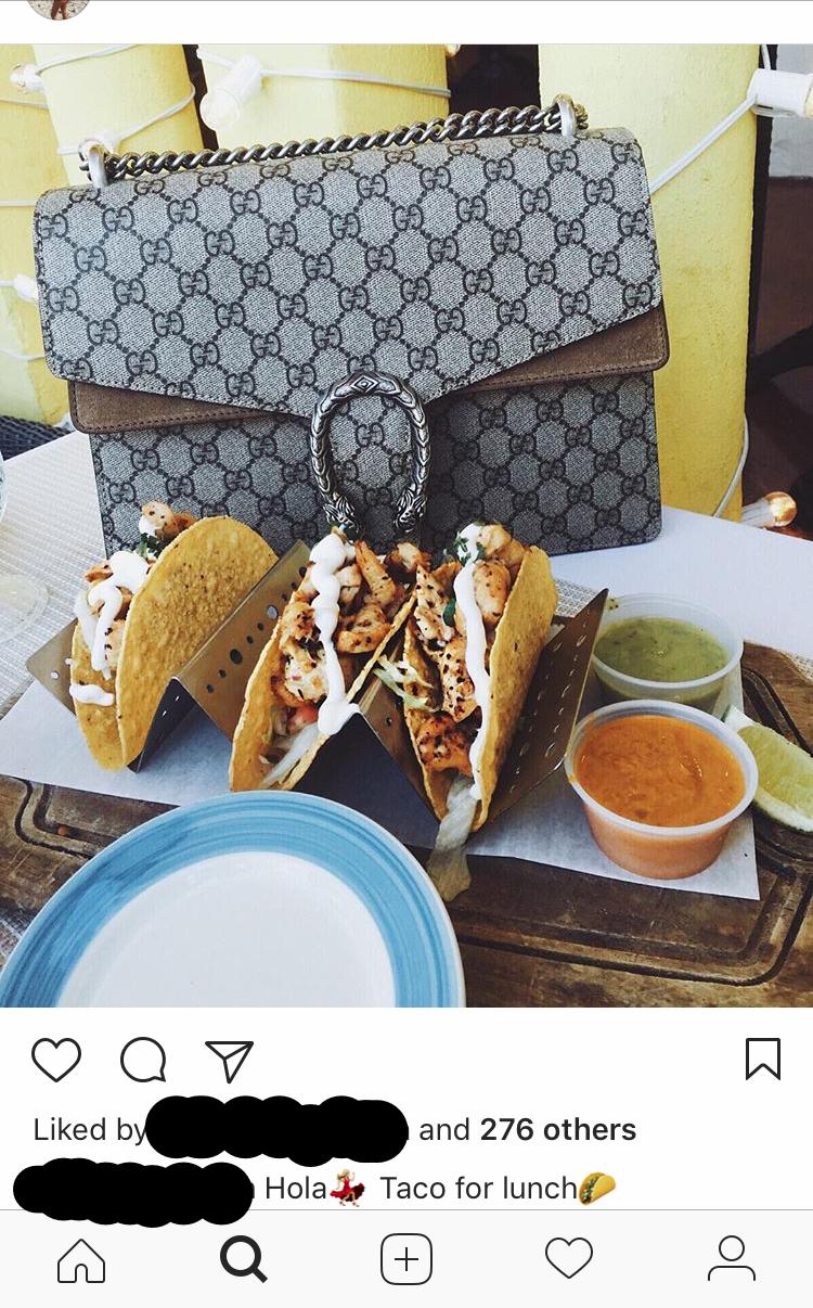 GUCCI-väska till lunch