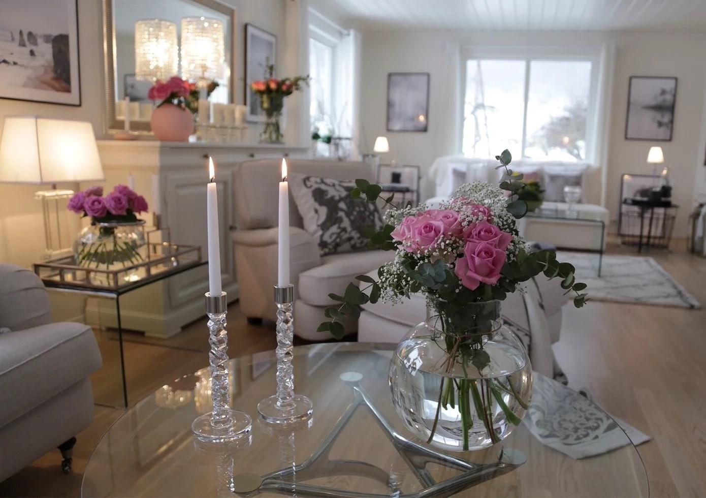 Ny vase og lysestaker