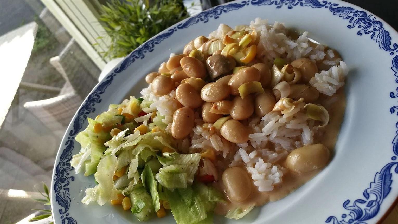 Gratäng med vita bönor och ris!
