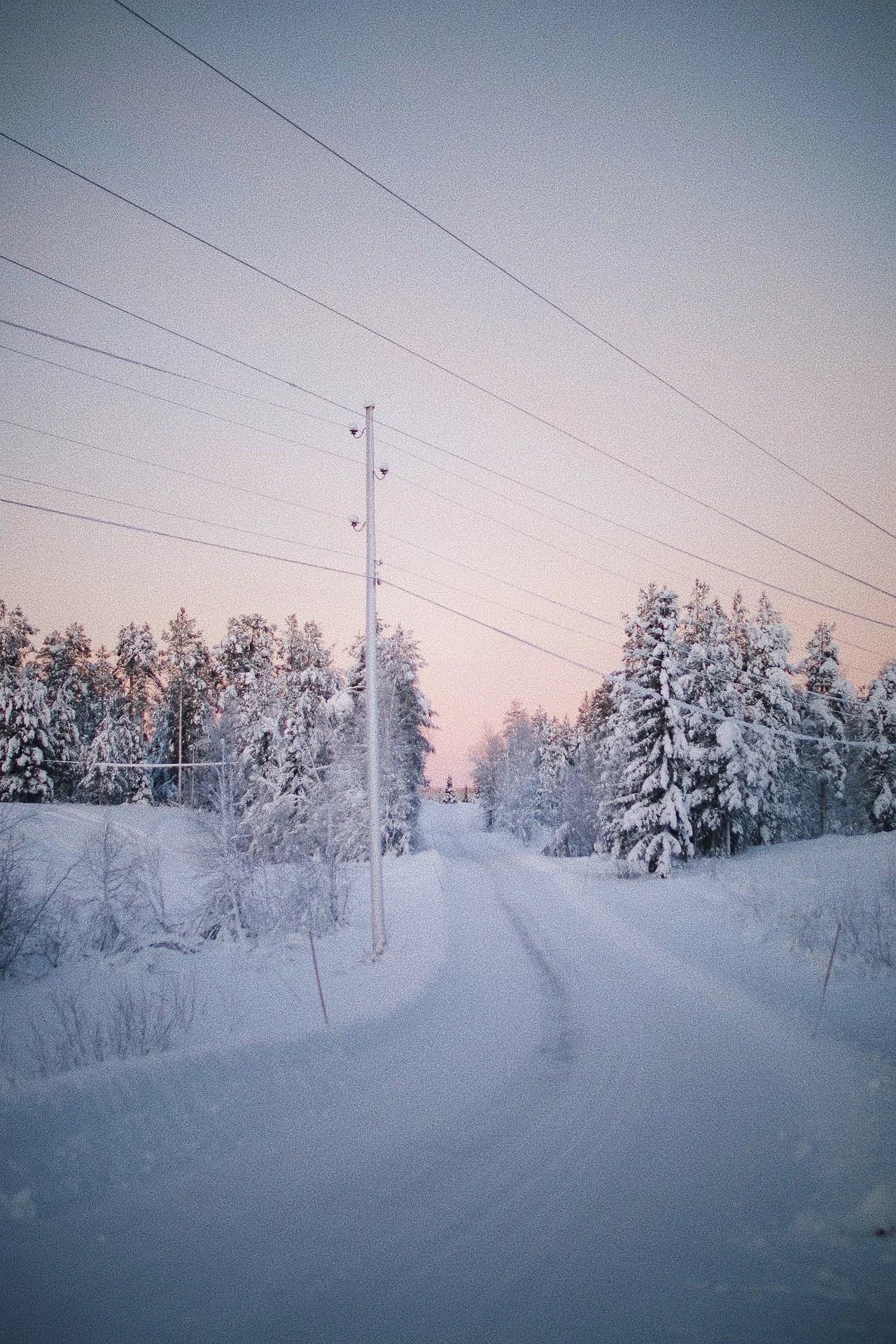 Mitt i vintern på sommarstället