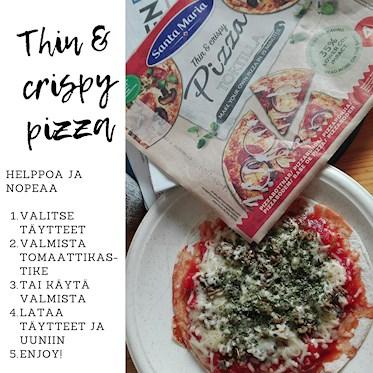 Santa Maria Crispy Pizza