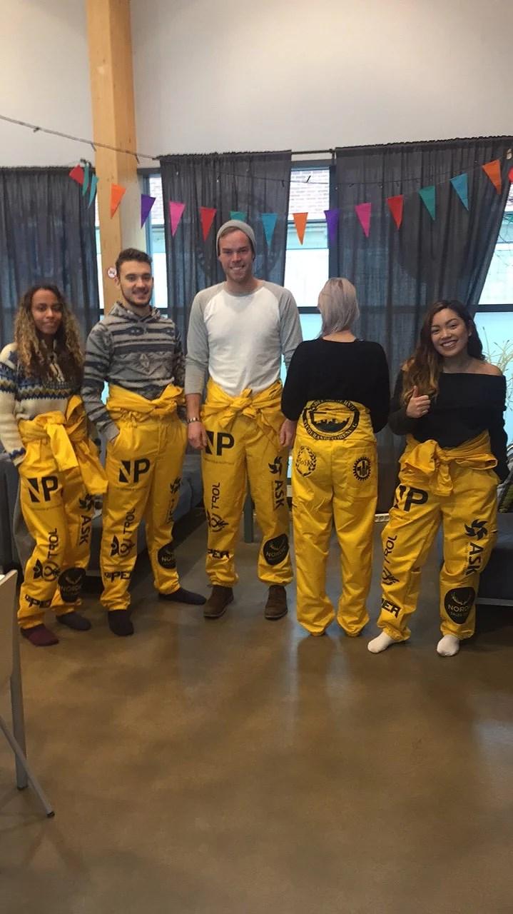 The yellow crew