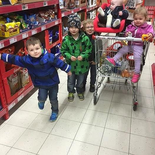 Att handla med barnen...