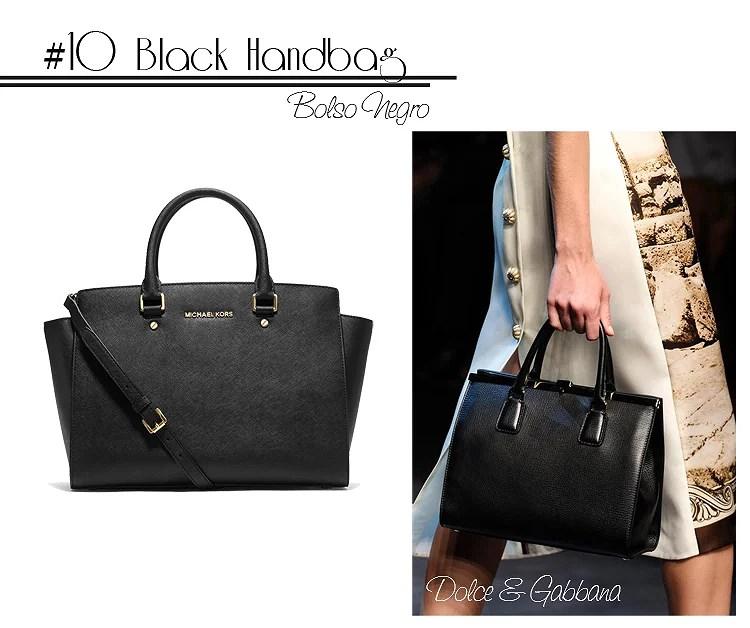 10 Black Shopping bag