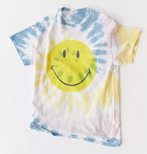 Urban Outfitters tie-dye smiley tee