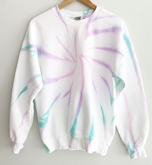 Pastel Tie Dye Sweatshirt, Pastel Rainbow Tie Dye, Pastel Goth Shirt, Kawaii Shirt, Yoga Top