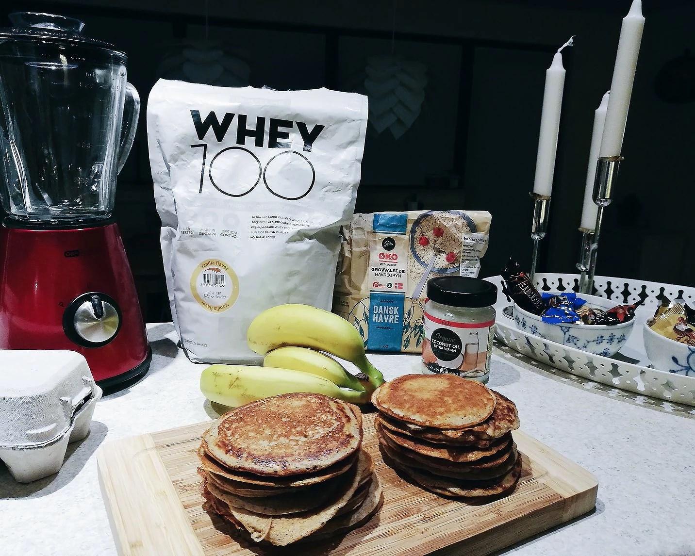 Pandekager med proteinpulver