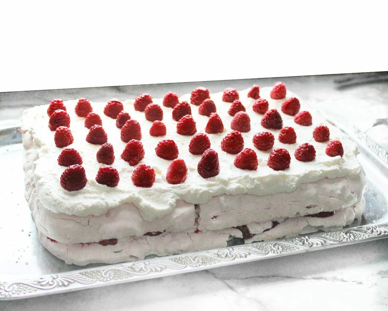 Meringue-Krispies Cake