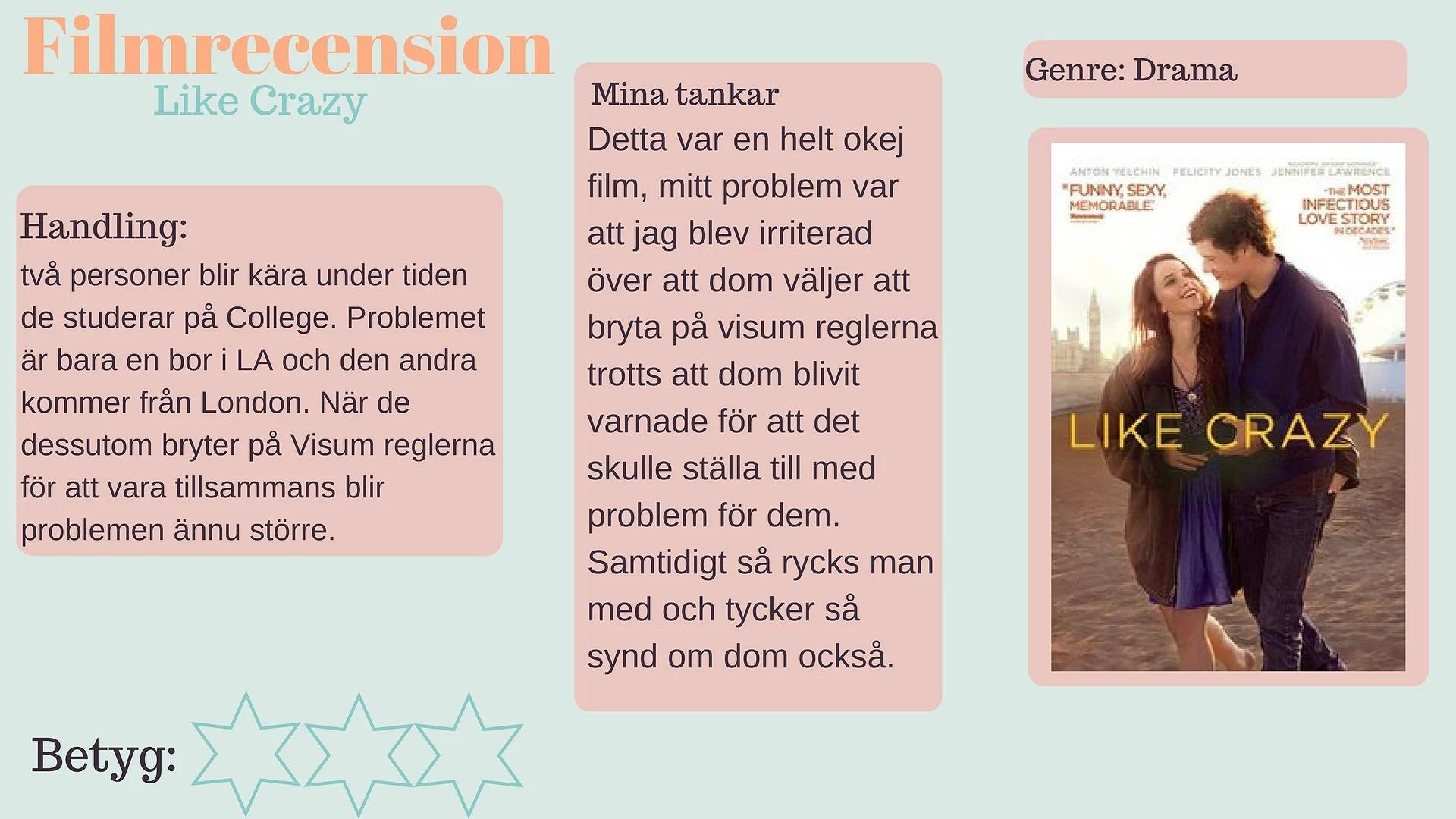 Filmrecenson - Like Crazy