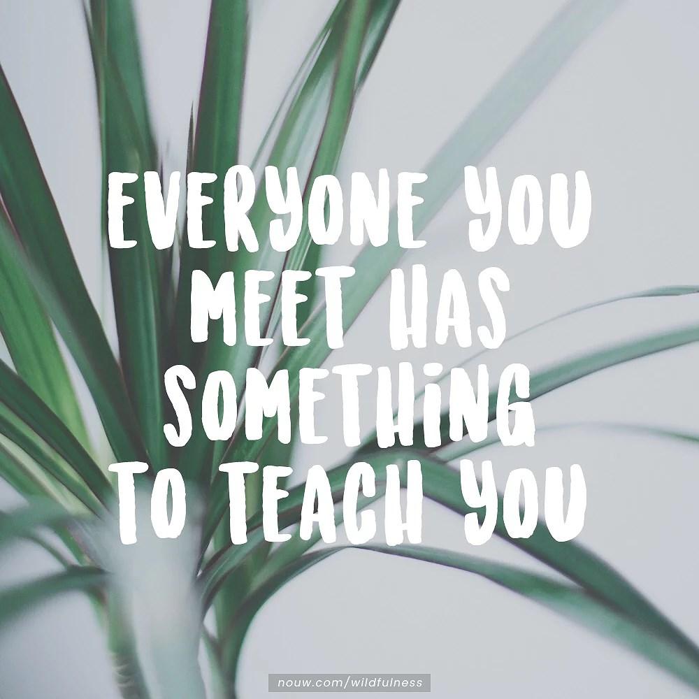 ett litet inlägg om möten och dess lärdomar.