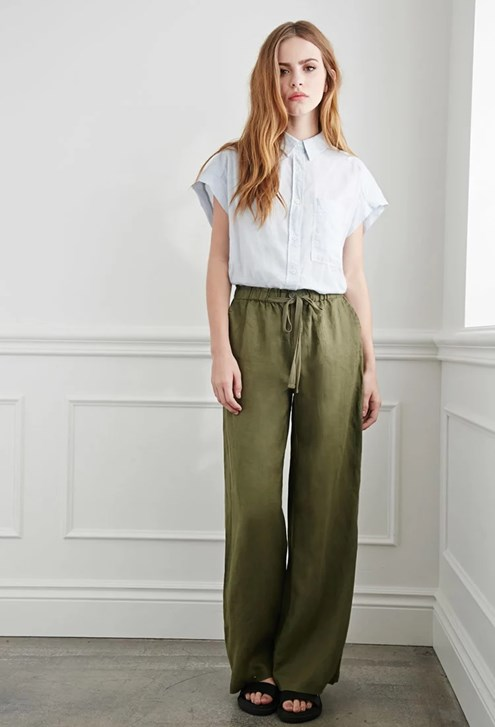 Shop Target for Wide Leg Pants you will love at great low prices. Spend $35+ or use your REDcard & get free 2-day shipping on most items or same-day pick-up in store. skip to main content skip to footer. Women's Wide Leg Tie Front Ankle Length Trouser - Prologue™ Olive.