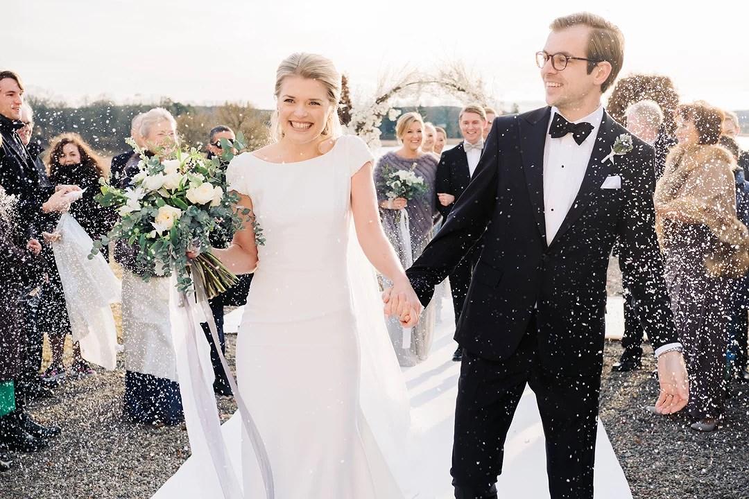 Ett bröllop inspirerat av vintern