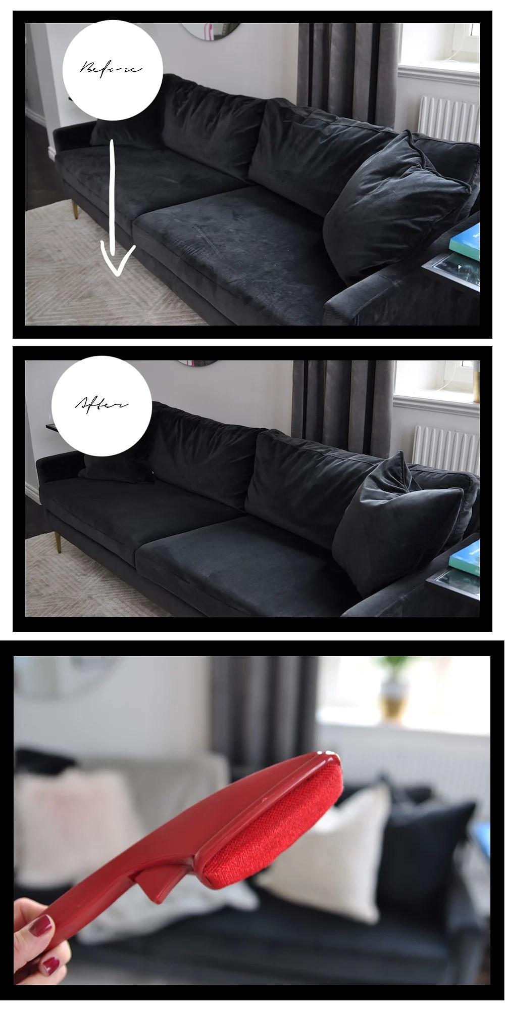 Quickest, easiest way to clean velvet furniture!