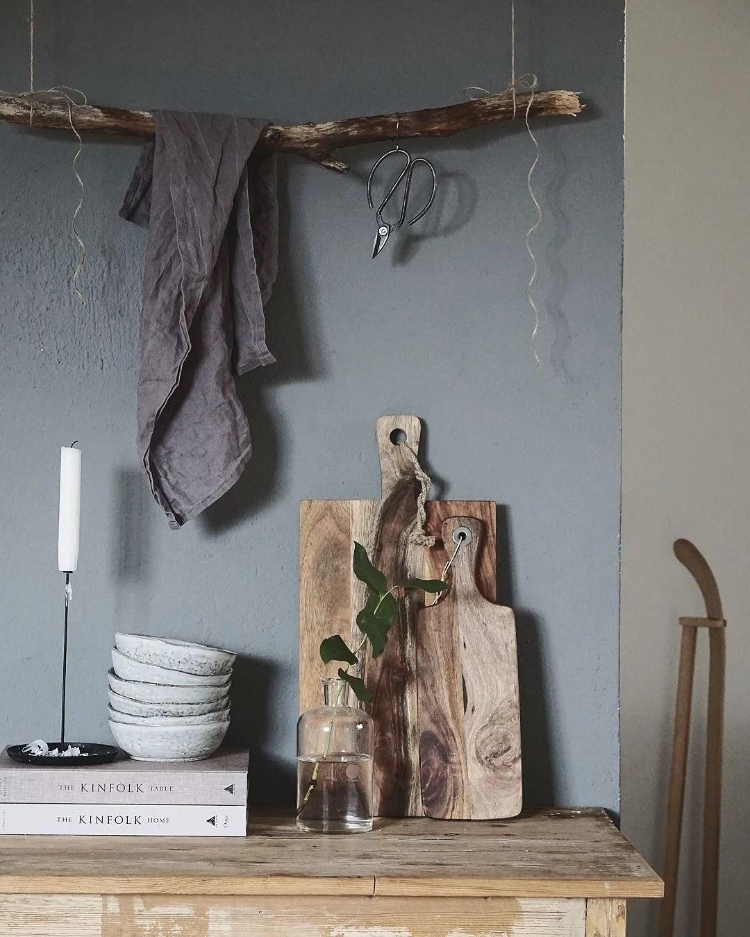 Målad murstock & DIY-hängare