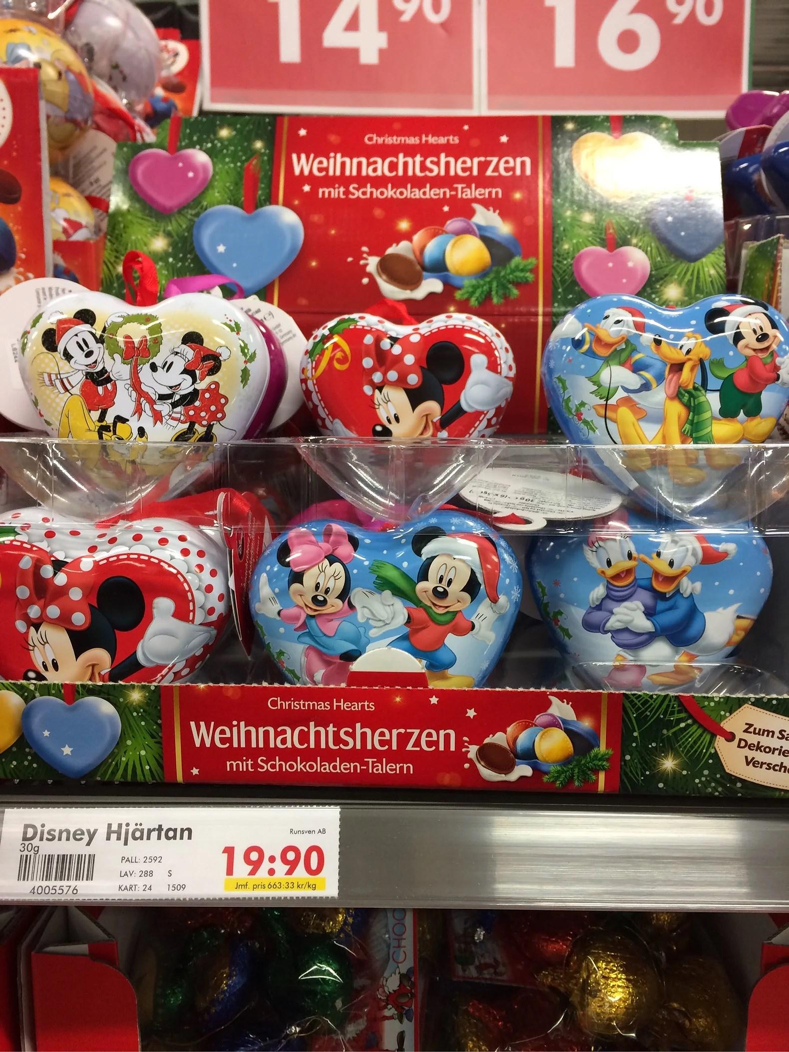 Julgranskulor med Disneymotiv