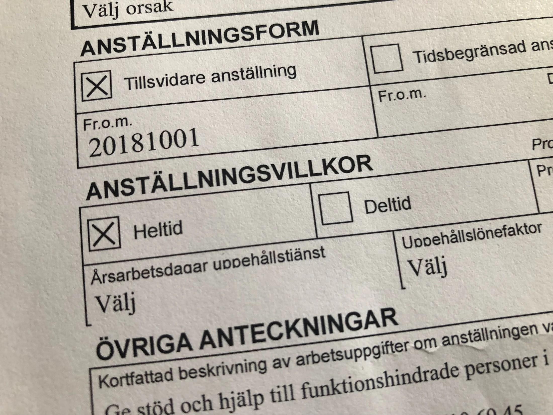 JAG HAR FÅTT FAST JOBB!