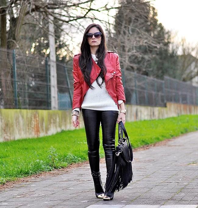 Red Biker Jacket...