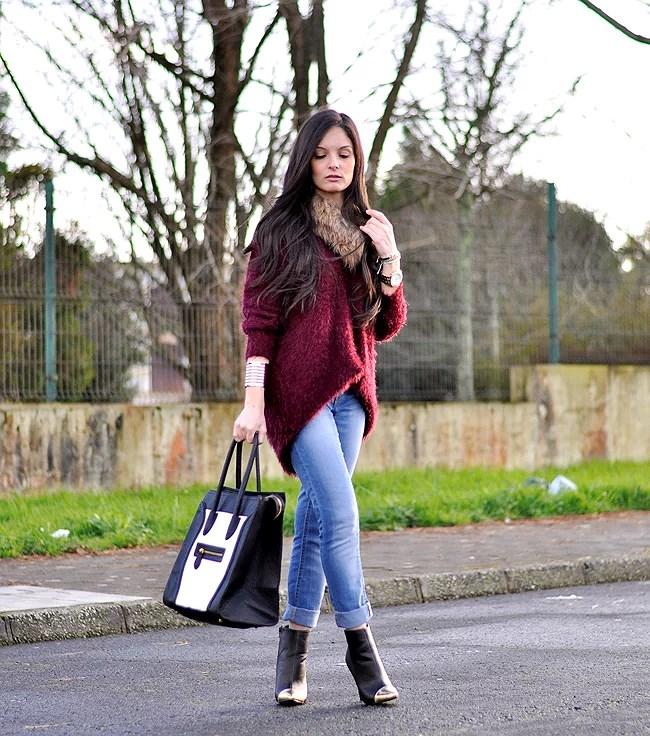 Jeans & Burgundy...