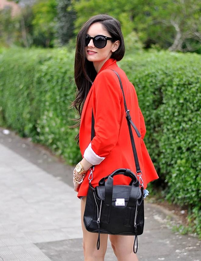 Red Zara Blazer_09
