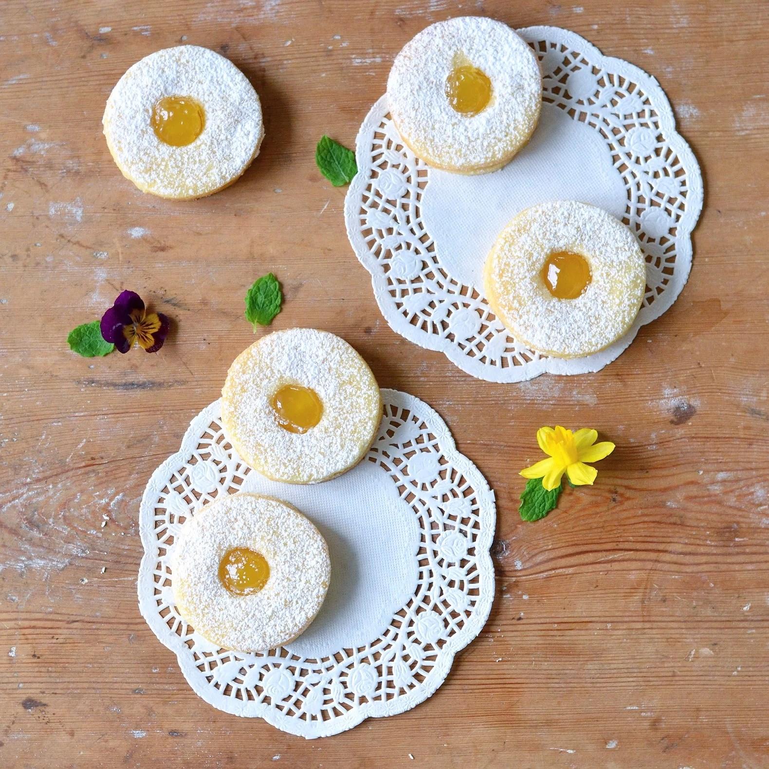 Vaniljkakor med citronkräm