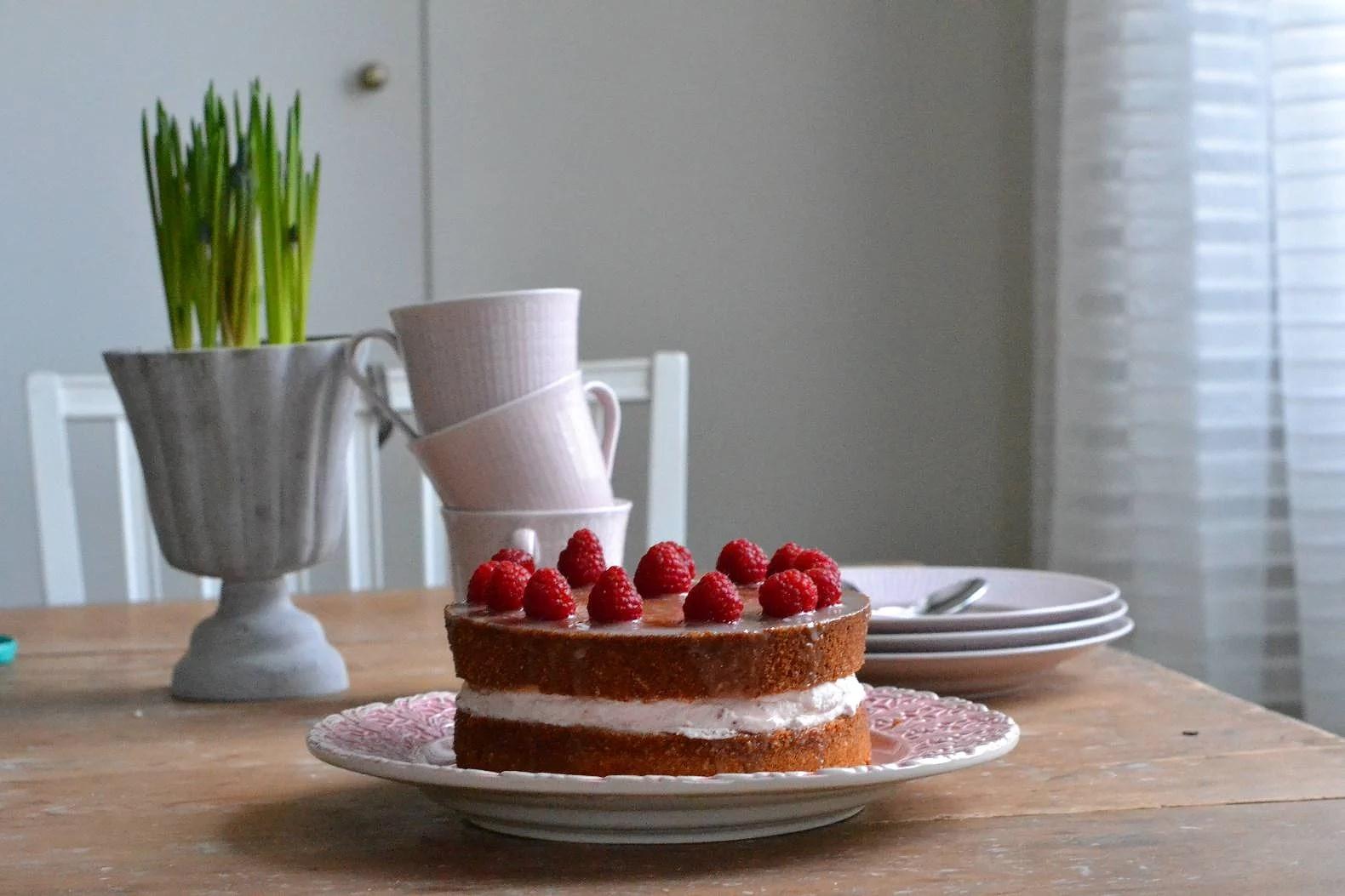 Tårtkaka- lime&hallon