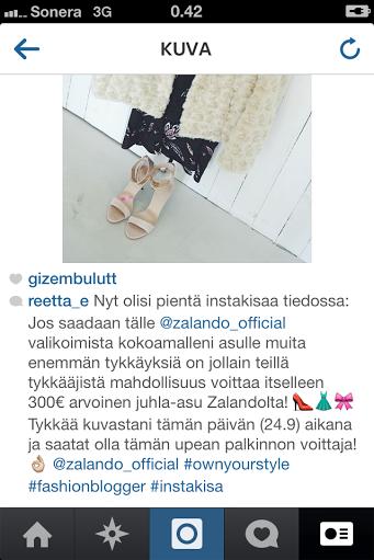 Zalandon instagram-kisa, voita 300€ arvoinen juhla-asu