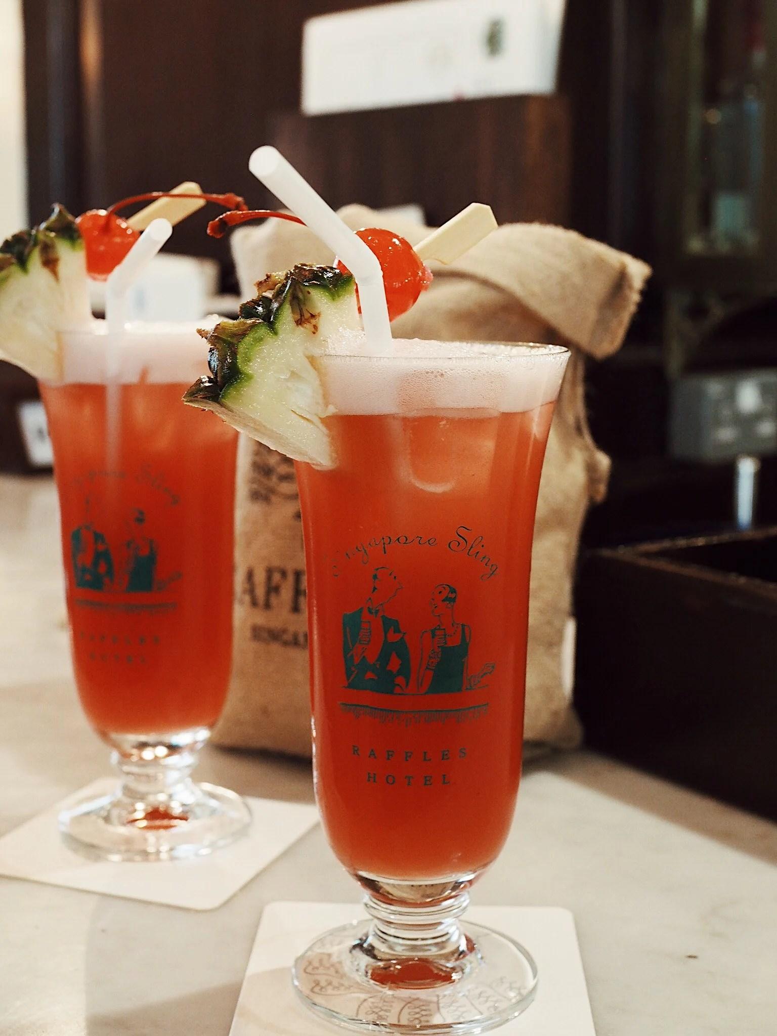 Singapore Sling at Raffles Hotel