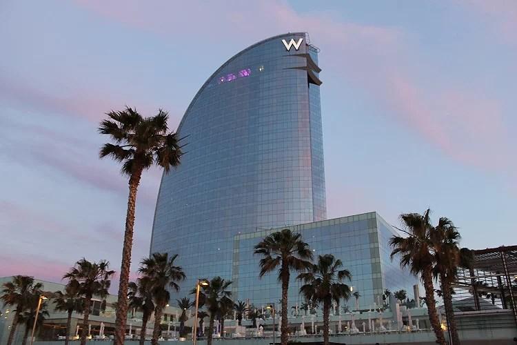 El hotel más trendy de la ciudad el W hotels Barcelona