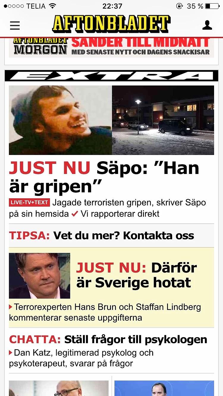 Terrorattack Sverige