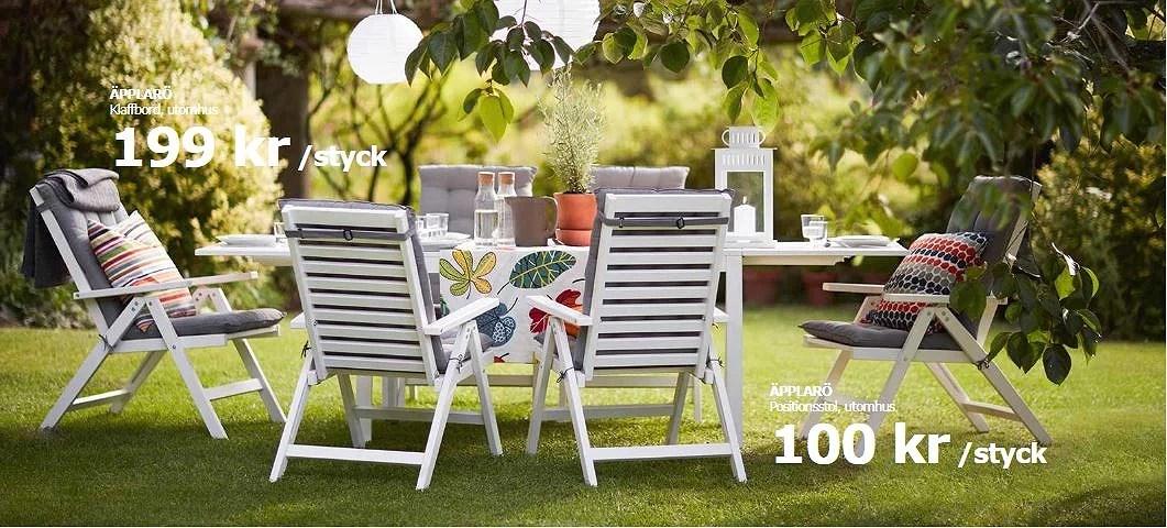 Superbilliga trädgårdsmöbler hos IKEA