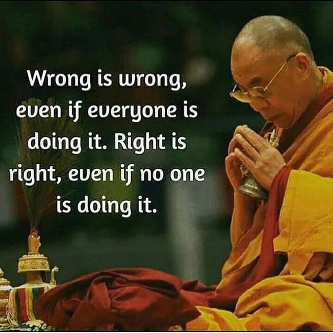 Fel är fel, även om alla gör det.