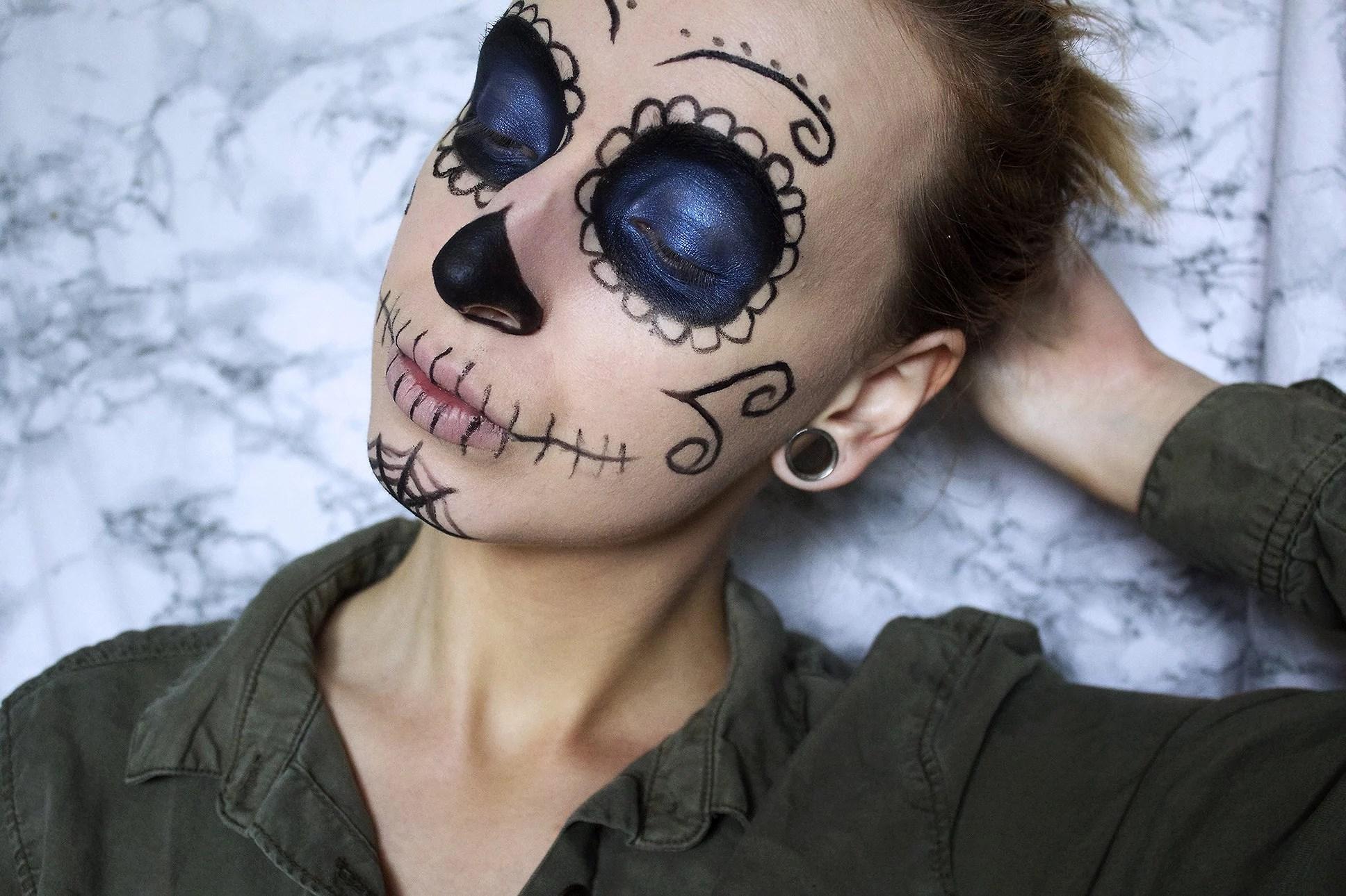 Makeup look: Suger Skull