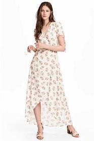 Mönstrad omlotteklänning från HM