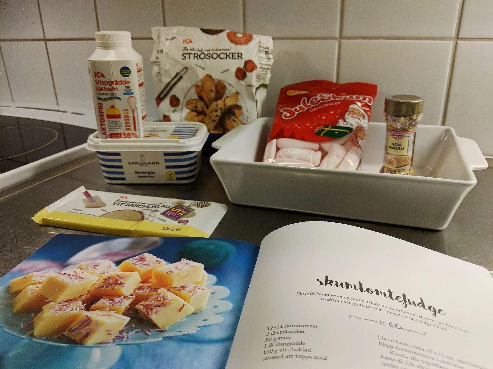 Skumtomtefudge och Hamburgare