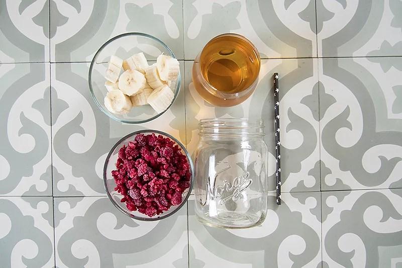 smoothie bringebær norgesglass