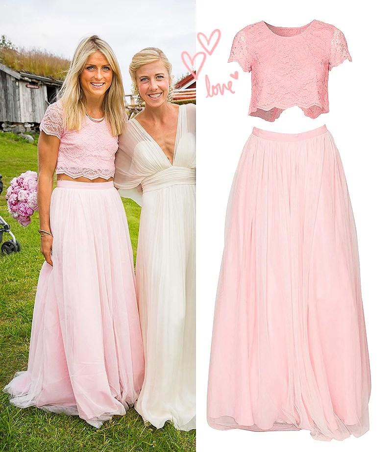 therese johaug bryllup rosa kjole marit bjørgen kristin størmer steira brud nelly sett rosa