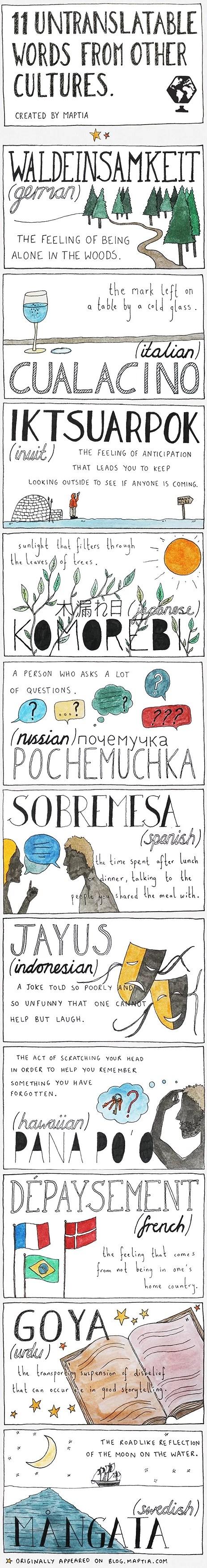 11 untranslatable words