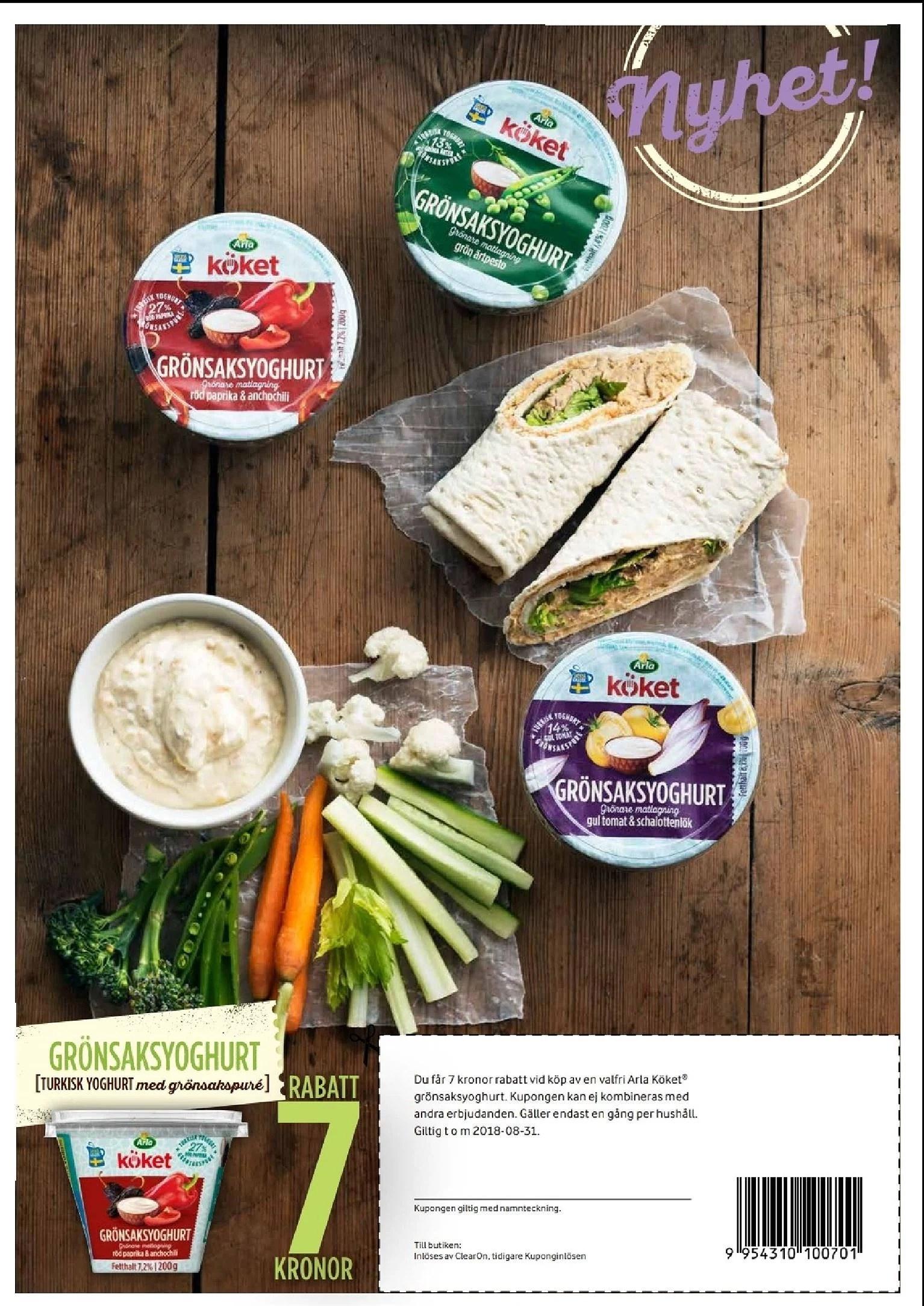 Bra kupong på grönsaksyoghurt