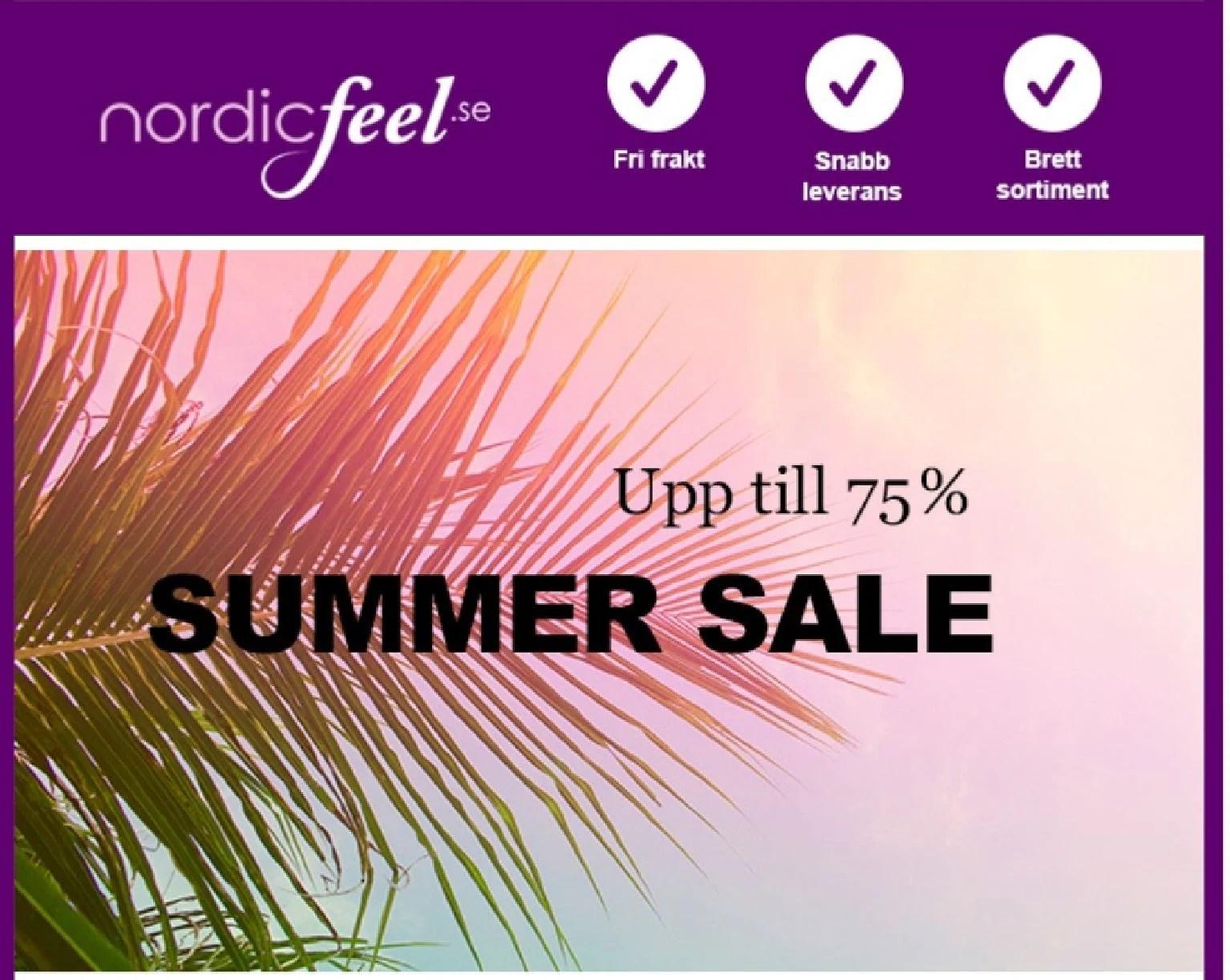 REA och andra kampanjer på NordicFeel