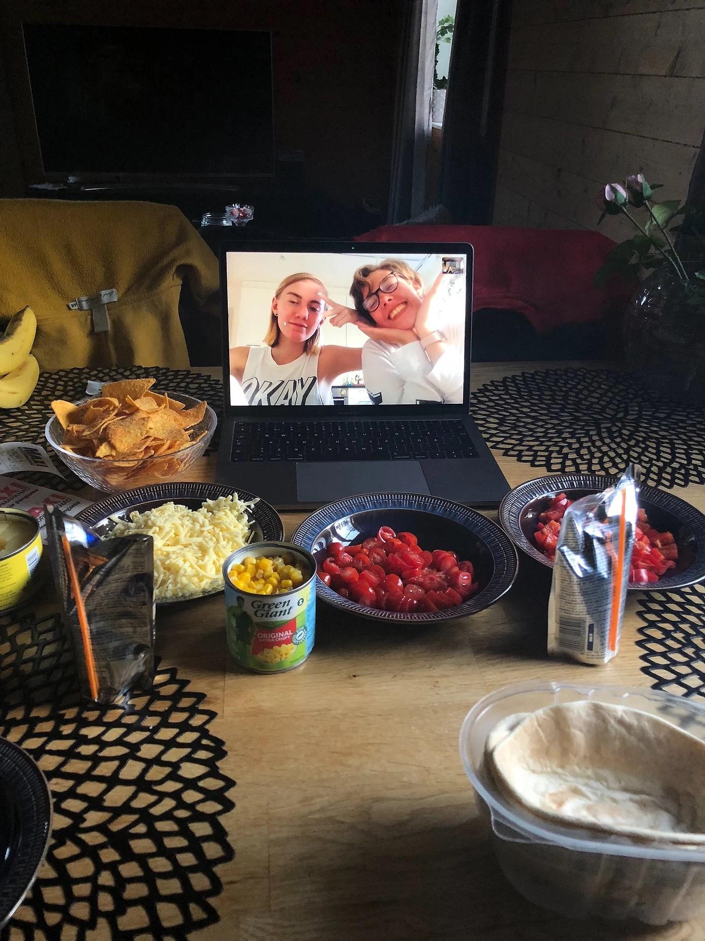 Taco-lördag med saknade vänner